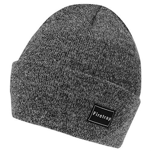 firetrap-mens-os-cuff-beanie-girls-hat-snow-winter-warm-accessories