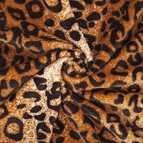 Neotrims Lepoard Animal Print Fur Fabric, Light Soft Pile for Crafts & Accessories, Throws, Blankets, 6 Beautiful colours at a Great Price! Earthy Colours. Two Sided Fur. - Brown, Terracotta - 1 Meter by Neotrims Faux Fur & PU Leather Fabrics