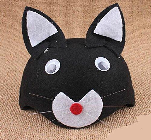 IU Desert Rose Hausbedarf Cute Baby Cat Cosplay Zubehör Cartoon Tier Hut (Farbe : Black ()
