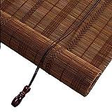 DRAPEDL Tende veneziane in bambù Tapparelle avvolgibili Retro Semplice Esterno Resistente Durevole Impermeabile Parasole (Color : Flat Curtain, Size : W90*H185cm)