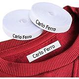 Etichette personalizzate termoadesive con CERTIFICATO ECOLOGICO per marcare nomi da stirare con ferro sui vestiti per bambini