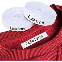 Etichette personalizzate termoadesive con CERTIFICATO ECOLOGICO per marcare nomi da stirare con ferro sui vestiti per…