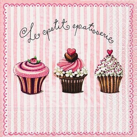 20 Servietten Le Petite – Die Kleinen / Cupcakes / Essen / Dessert 33x33cm