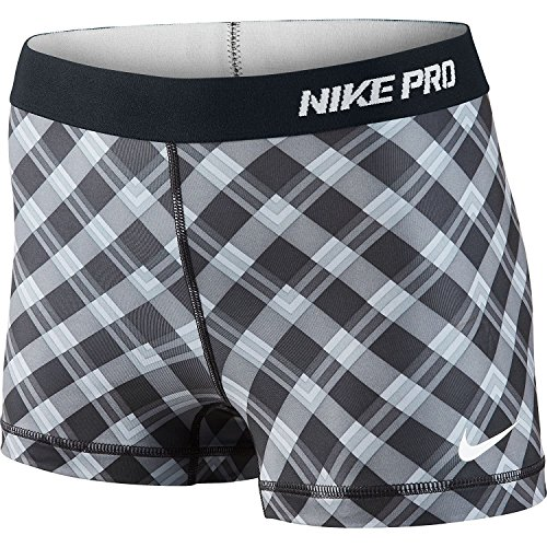 Nike Women's Pro 2.5 Inch Short 2 Part - Large - Black/Cool Grey/White