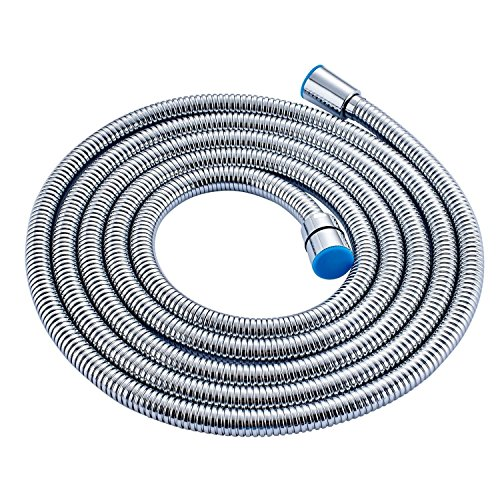 Alton Chromed Stainless Steel Double-buckle Flexible Shower Hose Handshower Hose Replacement Shower Tube 1.5 Meter, Health Faucet Tube, Flexible Tube  available at amazon for Rs.299