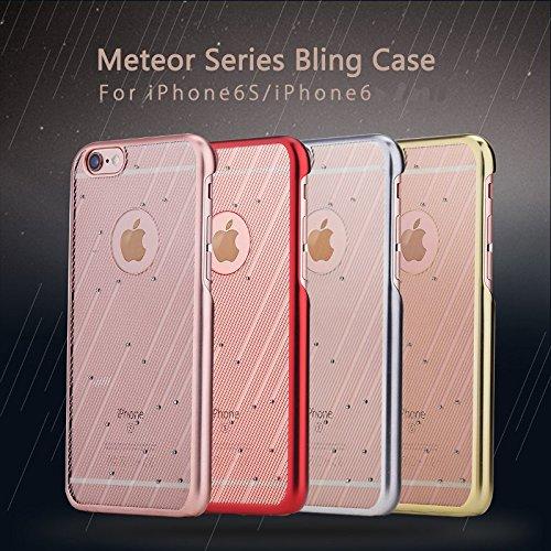 ROCK LUXE origine Case Bling Meteor SŽrie Ultrathin PC Retour pour Apple iPhone 6S 4,7 pouces or