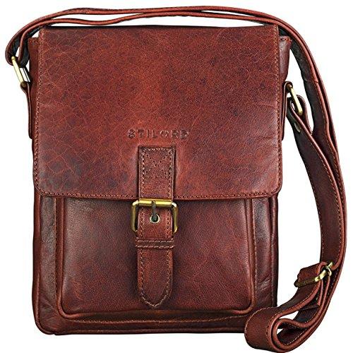 fccc564499 STILORD 'Arne' Vintage Borsa Messenger pelle marrone Uomo Borsa a tracolla  piccolo Tablet PC