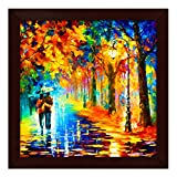 #6: Story@Home Picture Perfect Love Couple with Umbrella Art Framed Wall Painting (Wood, 30 cm x 3 cm x 30 cm)