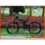 addmotor® hithot H2Pedelec Ebike bicicleta eléctrica 500W 48V bafang Rear Hub Motor 10.4Ah Samsung batería el Ebike para grandes profesionales con amortiguación completa, negro