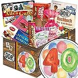 40. Geburtstag | Geschenkset DDR | DDR Suessigkeiten-Box mit Puffreis-Schokolade, Liebesperlenfläschchen, Othello Keks Wikana uvm.