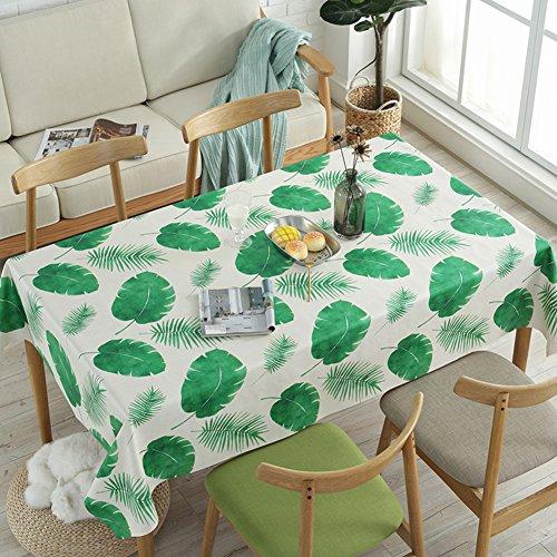 HM&DX PVC Kunststoff Tischdecken Rechteck Wasserdicht Ölfreie Abwaschbar Schmutzabweisend Tabelle cover tuch protektor für kaffee garten esstisch-Blatt 138x220cm(54x87inch)