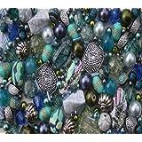 Seascape Tones Blue Green Jewellery Making Starter Beads Mix Set
