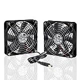 ELUTENG Ventilateur 120mm Double 2 in 1 USB Fan Silencieux Petit Grille Ventilateur de PC 5V Fan Cooler Refroidisseur 12cm Cooling pour PS4 PS3 Xbox Routeur Mini PC