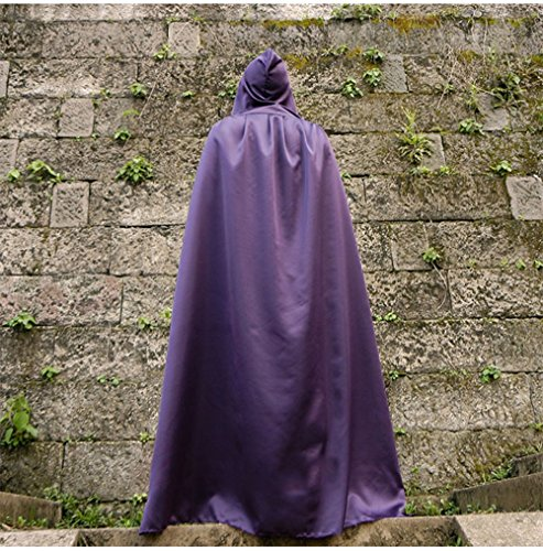 Halloween Kostüme Erwachsene Kinder Magic Cloak Hexe Robe Tod Vampir schwarzen Umhang Umhang (Farbe : Purple, größe : M)