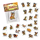 24 Mini-Tattoos * INDIANER YANUK * von LUTZ MAUDER // 47310 // Piraten Pirates Geschenk Tattoo Kindertattoos Indian Indianerjunge