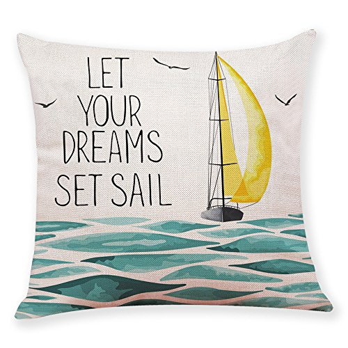 Harpily Küche,Haushalt&Wohnen Happy Summer Time Print Throw Pillowcase Pillow Covers Home Decoration Cushion Cover,45x45 cm