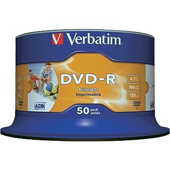 Verbatim 43533 DVD-R 4,7 GB 16x Druckbare 50 Pack: Amazon.de ...