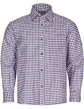 TRACHTENHEMD Herren Karohemd oder Stehkragenhemd - FROHSINN - Trachten Hemd kariert - blau, rot, grün, schwarz...