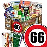 66. Geburtstag Geschenk - SPEZIALITÄTEN Box mit DDR Waren + Geschenkverpackung