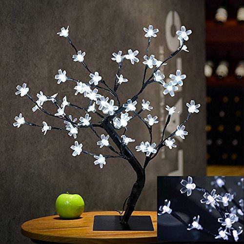 rschblüten Tabellen Lampe, 0.45M / 1.5FT 48LED Flexible Zweige Baumlicht für Haus / Party / Hochzeit / Festival / Weihnachts Dekorationen (Kühles Weiß) ()