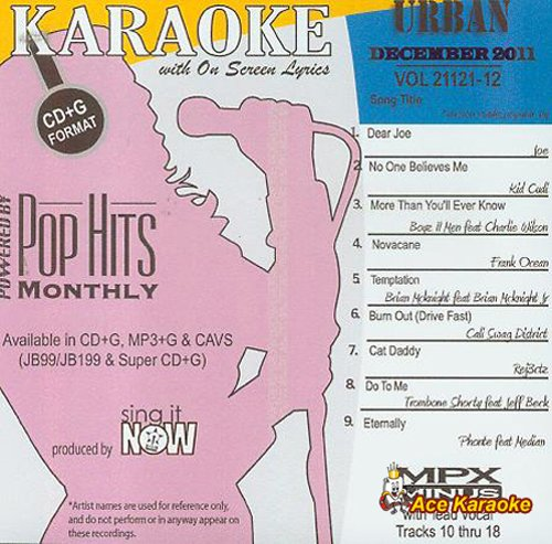 Pop Hits mensuel Urban - Décembre 2011 karaoké CDG