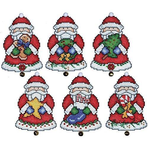 Tobin Santa Ornaments Plastic Canvas Kit, 3 by 4-Inch, Set of 6 by Tobin -