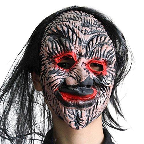 uesae Halloween Masken Erwachsene Scary Creepy Latex Monster Halloween Dekorationen Kostüm Party Cosplay Karneval Zubehör Make Up Thema Party 1 Un tama?o B (Erwachsene Halloween-party-themen Scary Für)