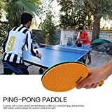 Lorenlli Fit Double Fish Outdoor Indoor Sports Wasserdichte Tischtennisschläger Tragbare Durable Gummi Kunststoff Ping-Pong Paddel