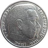 Silbermünze 5 Reichsmark 1938 J Drittes Reich - Paul von Hindenburg - Münze
