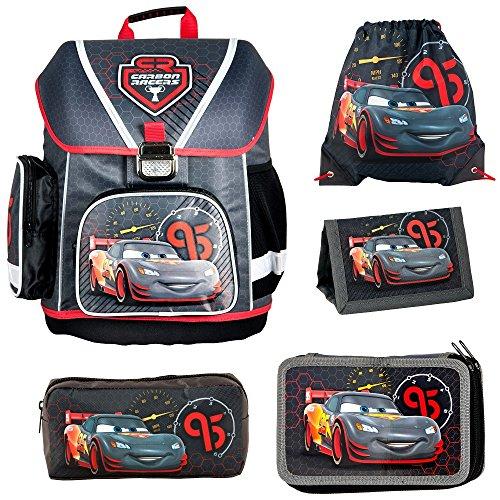Disney Cars Schulranzen Jungen 1 Klasse Tornister Schulrucksack Schultasche...
