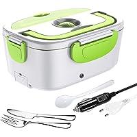 ERAY Boîte Chauffante Repas, 2 en 1 Lunch Box Chauffante Electrique 220V 12V/24V 1.5L en Acier Inoxydable Amovible…