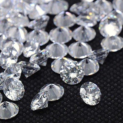 NBEADS 500PCS zirconi cabochon, grado A, sfaccettato, Diamond, trasparente, 5x 3mm