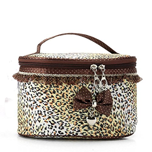 YAWEN Bow floreale Cosmetic Bag Women 's Stampa ovale poliestere