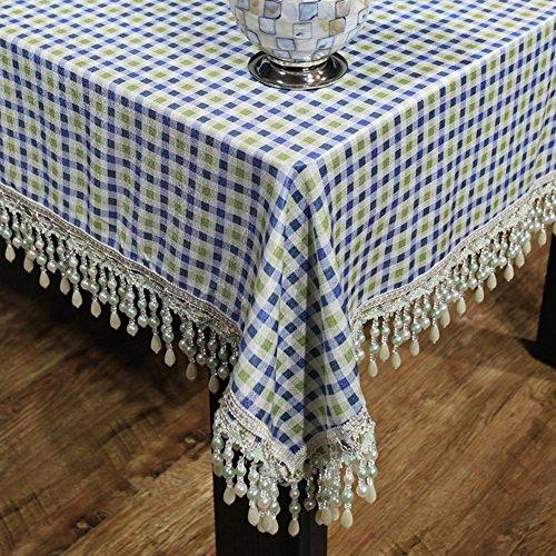nach Hause Tuch/Chenille samt Tischdecke/Tischdecke decke/ Karierten Tischdecke/Tischdecke decke-A 130x260cm(51x102inch) (Chenille Samt Decke)