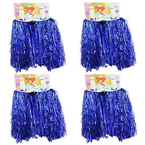 CRIVERS Cheerleader-Pompons für Bälle, Tanz, Fasching, Party, Sport, Blau, 50 g, 8 Stück