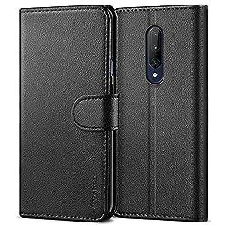 Vakoo PU-Leder Handyhülle für OnePlus 7 Pro Hülle, Brieftasche Schutzhülle für OnePlus 7 Pro Handytasche Case - Schwarz
