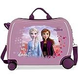 Disney Frozen Nature is magical Maleta Infantil Morado 50x38x20 cms Rígida ABS Cierre combinación 34L 2,1Kgs 4 Ruedas Equipaj