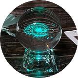 FTYtek Cristal de Galaxie possède Une Base électroluminescente LED de Sept Couleurs