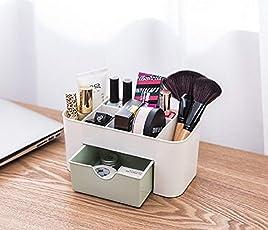 Brezzycloud Plastic Cosmetic Storage Box with Drawer, 22x10.5x10.5cm (Multicolour, 354168)