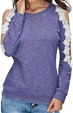 Camicia casual da donna pizzo donna vestiti eleganti e felpa con cappuccio,Yanhoo Felpe con cappuccio da donna, Bluse e camicie,Maglie a manica lunga da donna,Top Donna T Shirt
