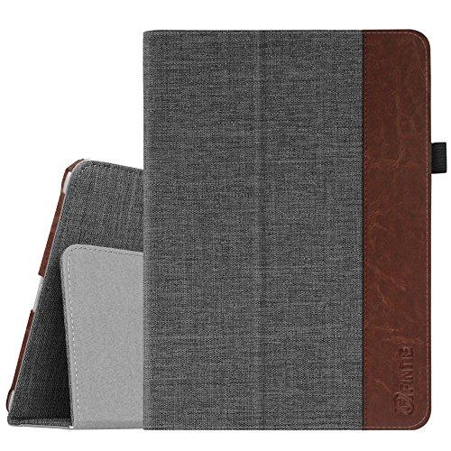Fintie Folio Hülle für iPad 9.7 Zoll 2018 2017 / iPad Air 2 / iPad Air - [Eckenschutz] Slim Fit Stoff Schutzhülle Case mit Ständer & Auto Schlaf/Wach Funktion, Denim dunkelgrau
