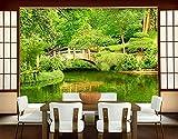 Papiertapete - Fototapete Wald - Wandtapete mit Motiv LAKE VIEW Wand Foto Deko Tapete mit Garten See Natur Wasser für Entspannung und Ruhe