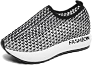 Women Shoes Hollow Out Mesh Platform Shoes Casual Slip On Sneaker Shoes