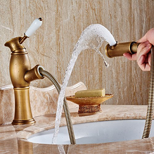 basin-faucet-antique-copper-bathroom-faucet-yellow-frosted-faucet-size-pull-way-