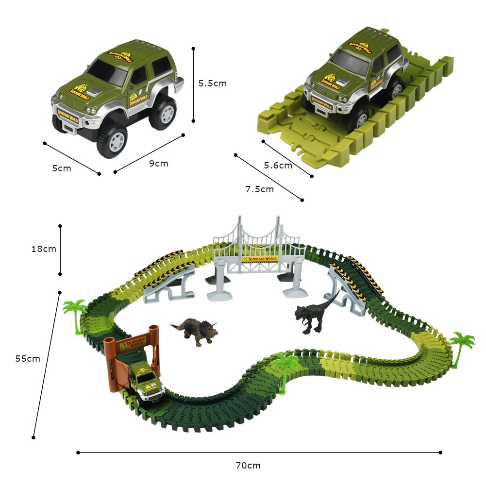Voiture 3 Avec Circuit Fille Accessoires Tonze Dinosaure Enfant Pour Jouet Cadeau Garcon Jeux Flexible tdQshrCx