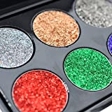 Unknown Glitter Eyeshadows Review and Comparison