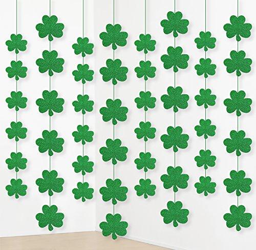 Jollylife 12St. Patrick 's Day Shamrock Dekorationen-Lucky Irish Party Aufhängen Ornaments Girlande