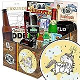 Einhorn   Ostpaket für Männer   mit Bier, Schnaps, Kondomen uvm   GRATIS Aufkleber - Einhorn