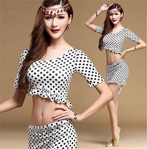 Femmes danse du ventre pratique porter costume / danse du ventre costumes de performance white b