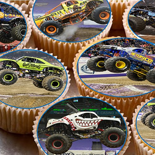 �cm auf Zuckerguss Cupcake Bilder–Monster Trucks (Monster-truck-cupcakes)